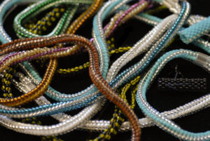 Bead-woven Chains