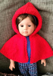 Doll Hooded Cape